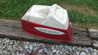AU63.56 • Buy Vintage Seaking 5HP Outboard Motor Cowl Top Case Red & White Model GG8822A