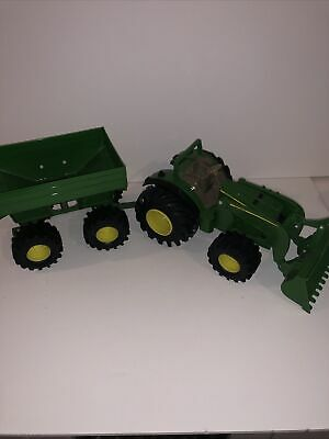 AU20.60 • Buy ERTL John Deere Tractor Front End Loader & Hopper Trailer Farm Toy Set