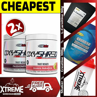 AU113.40 • Buy 2x Oxyshred By Ehplabs 60 Srv Thermogenic Fat Burning Weight Loss Twin Pack