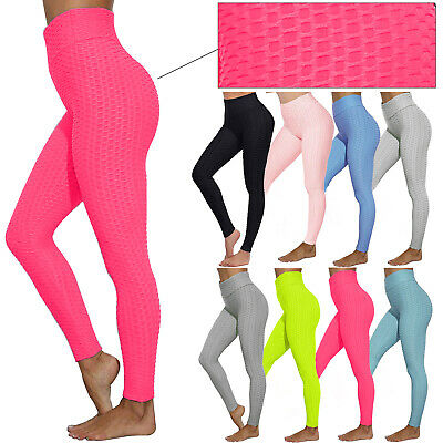 £8.99 • Buy Women Anti-Cellulite Ruched Back Push Up Honeycomb Gym Fitness Leggings Pants