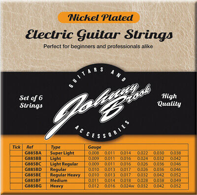 $ CDN7.11 • Buy Johnny Brook High Quality Electric Guitar Strings 8,9,10s Gauges Pack Of 6