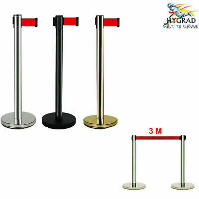 £29.90 • Buy Refurbished 2x Barrier Que Posts Stanchion With 3M Belt Crowd Control Posts