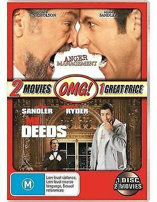 AU14.79 • Buy Anger Management + Mr Deeds - New & Sealed Double Dvd (adam Sandler)