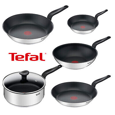 £24.79 • Buy Tefal Primary Stainless Steel Frypan Non-Stick All Hob 24/28/30/28 Wok/24 Saute