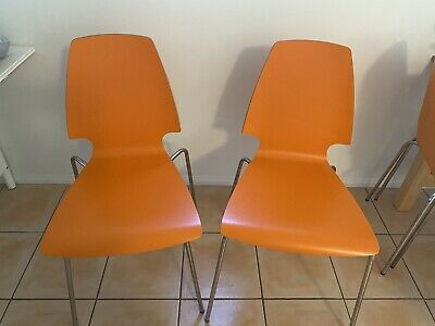 AU100 • Buy 6 Orange Dining Chairs