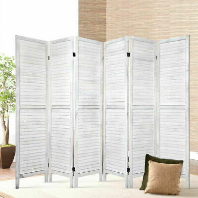 AU173.80 • Buy Artiss 6 Panel Room Divider Screen Bed Privacy Wood Foldable Stand Timber White