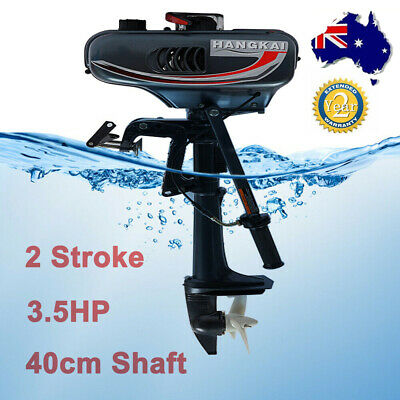AU327 • Buy 3.5HP 2Stroke Outboard Motor Fishing Boat Engine W/Water Cooling  40cm Shaft NEW