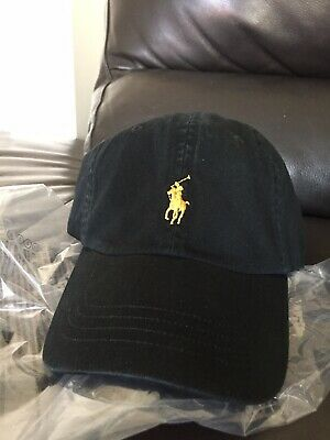 £19.99 • Buy Polo Ralph Lauren Cap Hat, Black With Gold Logo RRP £35+ New With Tags
