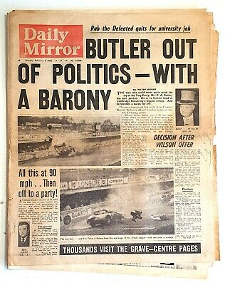 £8 • Buy Daily Mirror Newspaper - Monday, February 1st, 1965 - Winston Churchill Funeral.