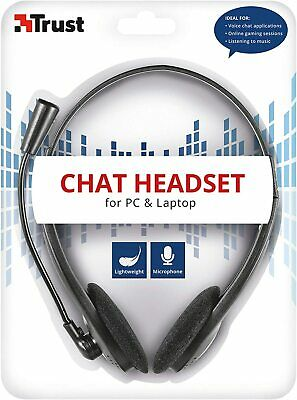 £12.99 • Buy Trust Chat Headset With Microphone For PC And Laptop, Skype Headset With 3.5 Mm