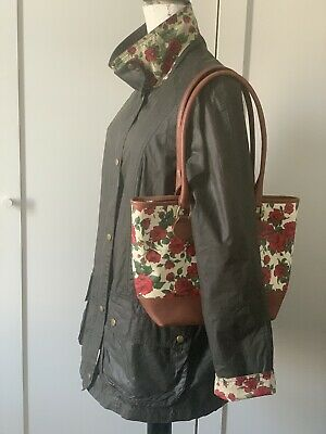 £195 • Buy Barbour Ladies Wax Jacket Liberty Print Size 16 With Matching Bag