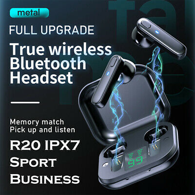 $ CDN14.15 • Buy NEW R20 TWS Bluetooth Earbuds For Iphone Samsung Android Wireless Earphone IPX7