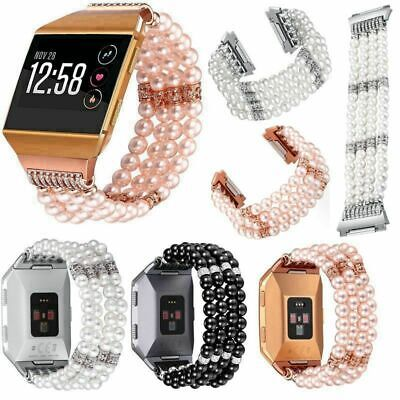 AU25.45 • Buy Luxury Fashion Replacement Crystal Beads Wrist Band Strap For Fitbit Ionic Watch