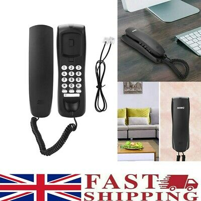 £9.49 • Buy Wired Telephone Wall Mounted Desktop Compact Home Office Corded Phone Landline