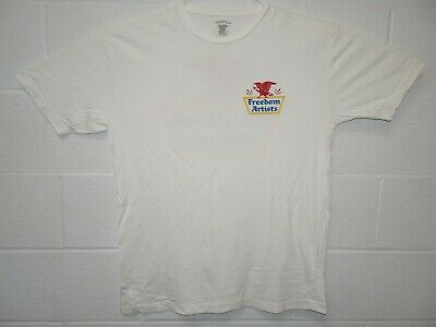 AU12.41 • Buy Freedom Artists Indie Clothing Eagle Logo Spell Out T Shirt XL White