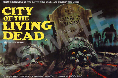 £16.99 • Buy City Of The Living Dead Pre Cert Movie Poster Superior Canvas Size 20  X 30