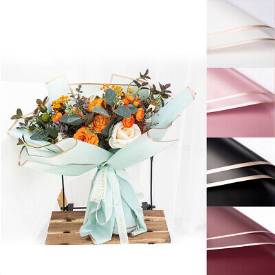 £4.99 • Buy 20X Flower Gift Wrapping Plastic Papers Florist Bouquet Packaging Decor Supplies