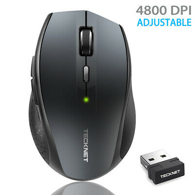 £6.99 • Buy TeckNet Wireless Cordless Mouse USB Optical Scroll 2.4GHz For PC Laptop Computer