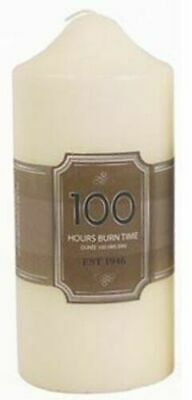 £7.65 • Buy Large 100 Hour Overdipped Wax Thick White Classic Church Pillar Candle Unscented