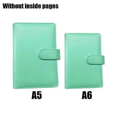 AU7.66 • Buy Leather Loose-Leaf Ring-Binder-Notebook Macaron Colour Diary New Planner O2B9