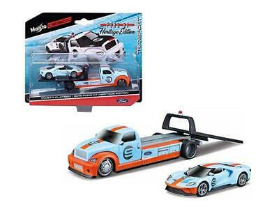 $19.95 • Buy 2019 Ford GT #9 Heritage Edition With Flatbed 1:64 Diecast - Maisto 15108-21B