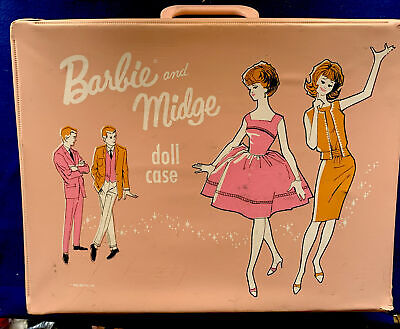 $ CDN36.25 • Buy Vintage 1963 Barbie & Midge Vinyl Carrying Case