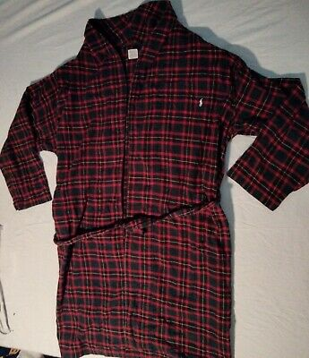 $49.49 • Buy Polo Ralph Lauren Robe Green Red Flannel Size Large / XL