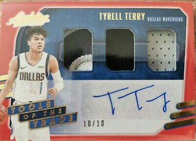 AU130 • Buy Tyrell Terry Tools Of The Trade Red Parallel /10 Rookie Patch Auto RPA RC...