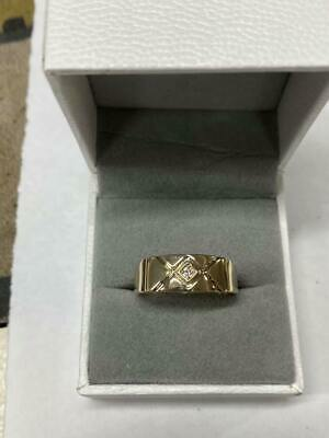 AU350 • Buy Mens 9ct Yellow Gold And Diamond Dress Ring 69509