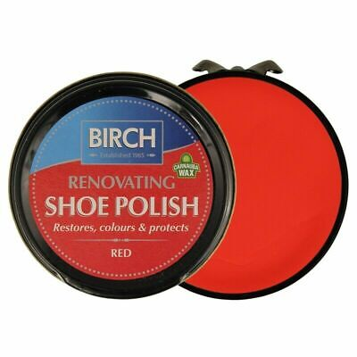 £2.99 • Buy Birch RED Renovating Traditional Shoe Boot Care Polish Smooth Leather Shine Wax