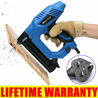 £48.03 • Buy 10-30mm Electric Straight Nail Staple Gun Heavy Duty Woodworking Tool 220V Power