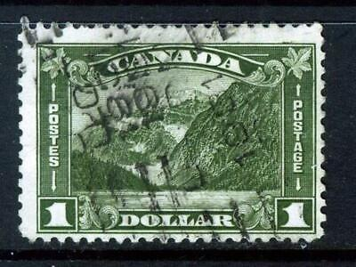 CANADA 1930 ONE DOLLAR OLIVE-GREEN Mt EDITH CAVELL SG 303 GOOD USED  • 2.30£