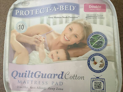 £24.99 • Buy Protect A Bed Quiltguard Double Waterproof Mattress Protector(135x190cms)