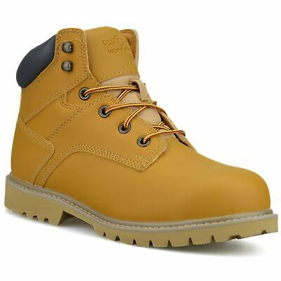 £19.98 • Buy Mens Safety Steel Toe Cap Army Combat Work Ankle Walking Hiker Boots Shoes Size