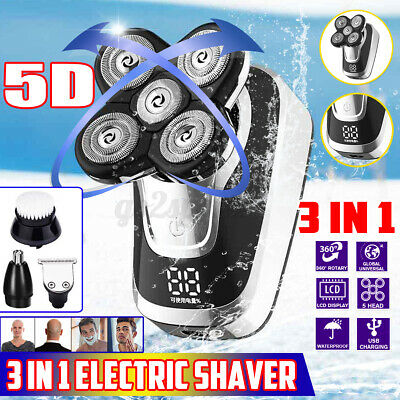 AU24.99 • Buy 5-in-1 4D Quick Rechargeable Electric Razor Shaver Waterproof Wireless Trimmer