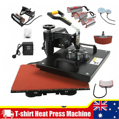 AU295.99 • Buy 8 In 1 Digital Manual Heat Press Transfer T-Shirt Sublimation Printer Machine AU
