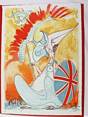 £270 • Buy Gerald Scarfe Lithograph Book 1982 1/250 W/ Thatcher Litho Both Sgd Fine.
