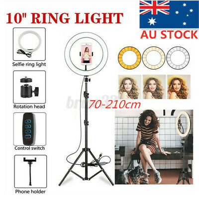 AU16.99 • Buy 10'' Dimmable LED Ring Light Tripod Stand Phone Selfie Video Makeup Live Tiktok