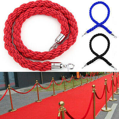 £7.69 • Buy 3 Colour Twisted Rope Crowd Control Post Queue Line Barrier For Exhibition Stand