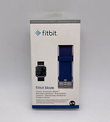 $ CDN9.07 • Buy New Fitbit Blaze Small Blue Classic Accessory Band For Fitness Tracker NIB