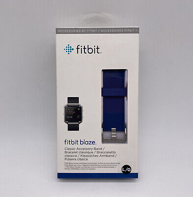 $ CDN10.88 • Buy New Fitbit Blaze Large Blue Classic Accessory Band For Fitness Tracker NIB