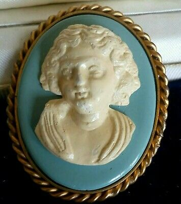 Early Century Old Damaged Cameo Style Ceramic/clay? Brooch-stock Clearance • 2.98£