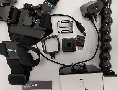 $ CDN426.13 • Buy GoPro HERO5 Session 4k Camera  With 32GB SD Card, Mounts, Stands + FREE Delivery