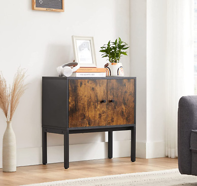 £79.79 • Buy Small Side Cabinet Vintage Industrial Cupboard Rustic Metal Hall Console Table