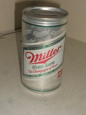 $24.95 • Buy Miller High Life The Champagne Of Beers Flat Top Can Bank 12 Oz. Excellent