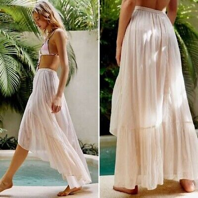 AU150 • Buy SPELL & The Gypsy Collective Seashell Organic Cotton Ruched Skirt Size L BNWT
