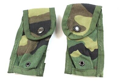 $ CDN30.95 • Buy US Military MOLLE II Double Pistol Mag Pouch M81 Woodland Camo