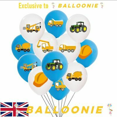 AU8.10 • Buy Tractor Digger Vehicle Truck Latex Birthday Construction Balloons Party Crane