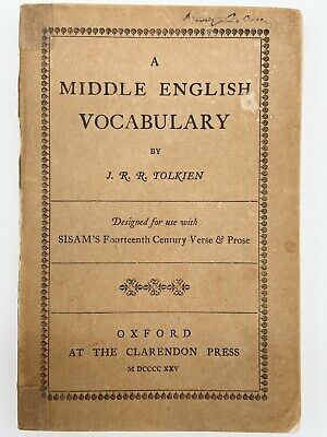 £672.59 • Buy A Middle English Vocabulary 1ST EDITION - TOLKIEN 1922 Hobbit Lord Of The Rings