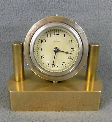 AU9.91 • Buy C1927 WALTHAM WATCH CO. 8 DAY LARGE POCKET WATCH ON BRASS DESK STAND - S OR R